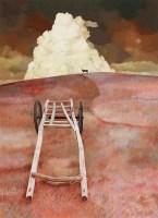 地平线上的一匹骏马 布面 油画 - 苗景昌 - 中国油画及雕塑 - 2012秋季拍卖会 -收藏网