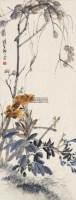 花卉 立轴 设色纸本 - 118993 - 中外书画精品 - 2012年《第一拍卖厅》冬季专场拍卖会 -收藏网