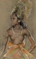 妮·杰德尔 炭精条纸本 -  - 现代及当代东南亚艺术 - 2013年春季拍卖会 -收藏网