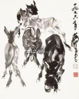 驴 立轴 纸本 - 黄胄 - 中国书画专场(二) - 2012年秋季书画艺术品拍卖会 -收藏网