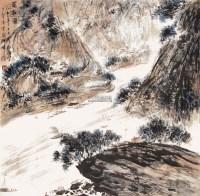 蜀江图 立轴 纸本 - 傅抱石 - 中国书画 - 2013年首届艺术品拍卖会 -收藏网