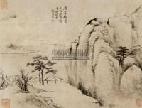 层峰积雪 镜心 水墨纸本 - 张之万 - 中国书画 - 第二期艺术品拍卖会 -收藏网