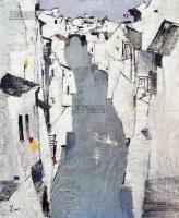 水巷 丝网版 - 吴冠中 - 中国油画及雕塑 - 2013年春季拍卖会 -收藏网