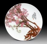 陆云山粉彩梅花赏盘 (一件) -  - 中国古董精品 - 2012年《第一拍卖厅》冬季专场拍卖会 -收藏网