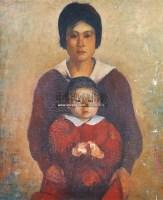 母子 油画 - 王沂东 - 瓷杂 书画拍卖 - 2012年春季艺术品拍卖会 -收藏网