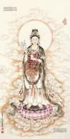 观音像 镜心 设色纸本 - 程宗元 - 中国书画 - 2013春季艺术品拍卖会 -收藏网