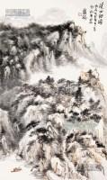 溪山细语 卡纸 纸本 - 龙瑞 - 中国书画 - 2013年首届艺术品拍卖会 -收藏网