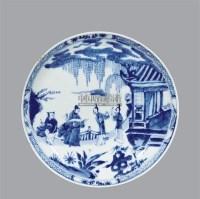 青花人物盘 -  - 古董珍玩夜场 - 2012春季文物艺术品拍卖会 -收藏网