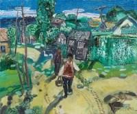 风景 布面 油彩 - 127014 - 中国油画及雕塑 - 2013年春季拍卖会 -收藏网