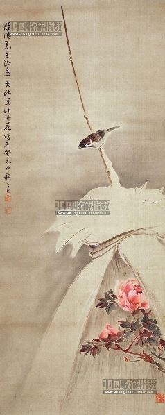 花鸟 立轴 纸本 -  - 中国书画 - 2013年首届艺术品拍卖会 -收藏网