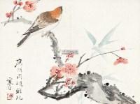 花鸟 镜片 设色纸本 - 江寒汀 - 中国书画 - 2012年秋季艺术品拍卖会 -中国收藏网