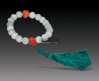 和田白玉雕牡丹捻珠 -  - 瓷杂专场 - 2012秋季艺术品拍卖会 -中国收藏网