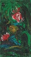 花卉 油彩 木板 - 李青萍 - 中国现当代美术-油画雕塑 - 2013春季拍卖会 -收藏网