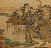 山水 立轴 设色绢本 - 文徵明 - 中国书画 - 第二期艺术品拍卖会 -收藏网