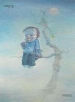 月光如水 布面 油彩 - 84291 - 中国油画及雕塑 - 2013年春季拍卖会 -收藏网