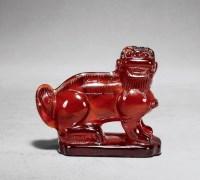琥珀狮子摆件 -  - 中国古董珍玩专场 - 2012秋季拍卖会 -收藏网