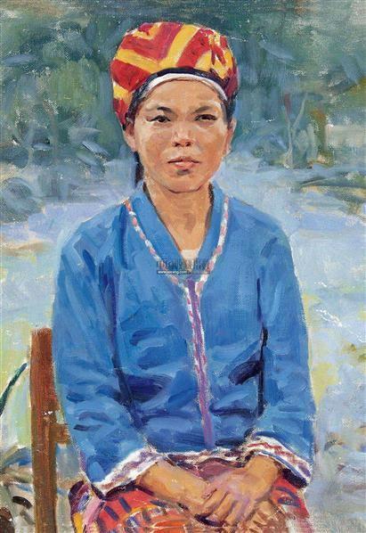 黎族女社员 布面油画 - 127131 - 中国名家油画 - 2012年春季艺术品拍卖会 -收藏网