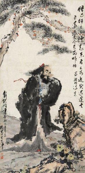人物 立轴 设色纸本 -  - 中外书画精品 - 2012年《第一拍卖厅》冬季专场拍卖会 -收藏网