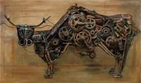 后工业时代之动力重组 布面 坦培拉 -  - 中国油画及雕塑 - 2012秋季拍卖会 -收藏网