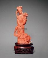 珊瑚麻姑献寿 -  - 中国古董珍玩专场 - 2012秋季拍卖会 -收藏网