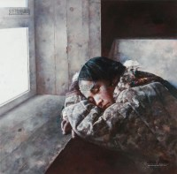 雪落在梦的边缘 丝网版 - 6025 - 中国油画及雕塑 - 2013年春季拍卖会 -收藏网