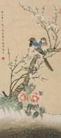 花鸟 立轴 设色纸本 - 118007 - 中外书画精品 - 2012年《第一拍卖厅》冬季专场拍卖会 -收藏网