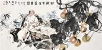 松龄著书图 镜片 设色纸本 - 李晓白 - 中国书画 - 2012夏季艺术品拍卖会 -收藏网