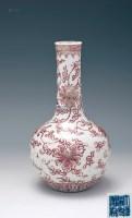 釉里红缠枝莲纹胆瓶 -  - 中国陶瓷及艺术珍玩 - 2013年春季拍卖会 -收藏网