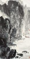 望天门山诗意图 立轴 设色纸本 - 129692 - 中国书画(二) - 2013年春季拍卖会 -中国收藏网