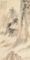 山居图 立轴 设色纸本 - 118129 - 中国书画专场 - 2012年秋季艺术品拍卖会 -收藏网