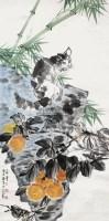 花卉猫 立轴 设色纸本 -  - 中国书画(一) - 2013年春季拍卖会第428期 -收藏网