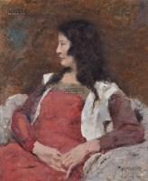 肖像 布面 油彩 - 140932 - 中国油画及雕塑 - 2013年春季拍卖会 -收藏网