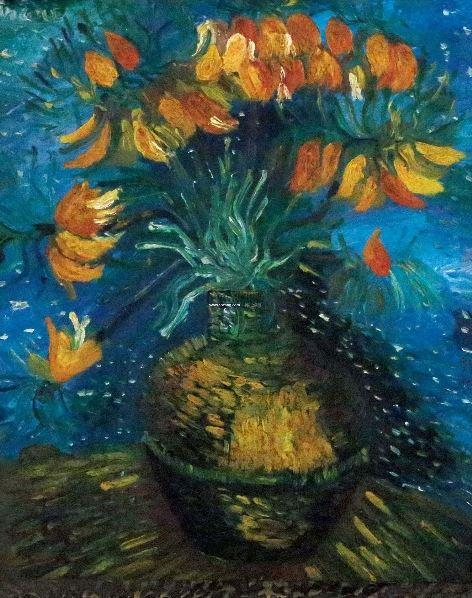 花卉 布面 油画 - 158318 - 中外书画精品 - 2012年《第一拍卖厅》冬季专场拍卖会 -收藏网