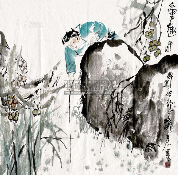 设色纸本-林百石-吉林名家书画专场-2013