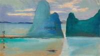 晨 油彩  纸本 - 140418 - 中国油画雕塑 - 2012年春季大型艺术品拍卖会 -收藏网