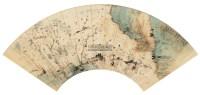 扇面双挖 镜心 设色纸本 -  - 中国书画专场 - 2012年秋季艺术品拍卖会 -收藏网