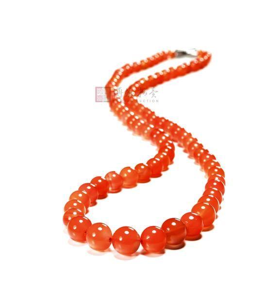 南红玛瑙珠链 - - 当代玉石雕刻名家精品 - 第四期玲珑美玉——当代