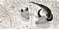 双牛 镜心 - 115966 - 中国书画 - 2013年春季文物艺术精品拍卖会 -收藏网