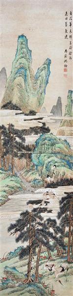 山水 立轴 设色纸本 - 116902 - 中国书画 - 2012夏季艺术品拍卖会 -收藏网