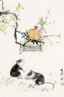 松鼠 立轴 设色纸本 - 117202 - 中国书画 - 第三期艺术品拍卖会 -收藏网