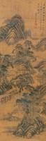 山水 立轴 设色纸本 - 118107 - 中外书画精品 - 2012年《第一拍卖厅》冬季专场拍卖会 -收藏网