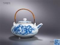 青花山水图提梁壶 -  - 瓷器工艺品 - 2013年春季拍卖会 -中国收藏网