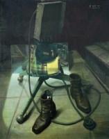 模特的舞台 布面油画 - 156172 - 华人西画 - 2012年秋季暨十周年庆大型艺术品拍卖会 -收藏网