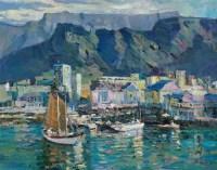 开普顿海港 油彩  画布 - 76346 - 中国油画雕塑 - 2012年春季大型艺术品拍卖会 -收藏网