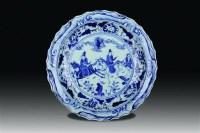 青花人物盘 -  - 玉器杂项书画瓷器 - 上海鸿年2012秋季大型艺术品拍卖会 -收藏网