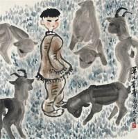 草儿青青 镜片 设色纸本 -  - 中国书画 - 2012年春季艺术品拍卖会 -收藏网