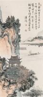 江阁吟诗 立轴 设色纸本 - 溥儒 - 南张北溥书画专场 - 2012秋季大型中国书画拍卖会 -中国收藏网