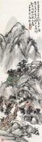 山水 镜框 设色纸本 - 8107 - 蒲华书画 关良国画 - 2012年春季艺术品拍卖会 -收藏网