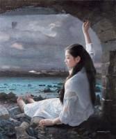 洒下的绿野 布面 油彩 - 158218 - 中国油画及雕塑 - 2013年春季拍卖会 -收藏网