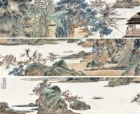 山水 手卷 设色纸本 - 133405 - 江苏当代书画 - 2012年春季艺术品拍卖会 -收藏网